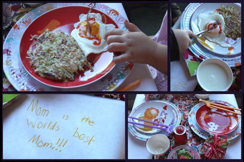 Special Valentine breakfast for kids