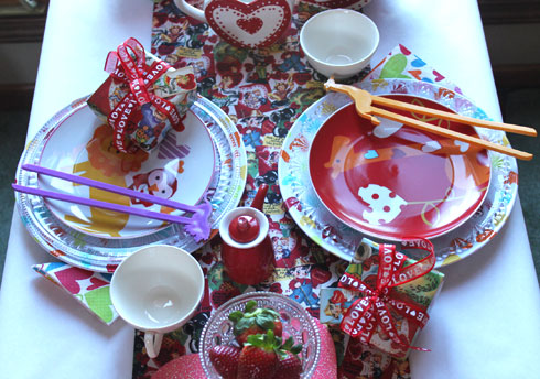 Kids Valentine dishes