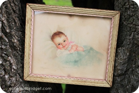 Vintage Baby Girl Picture