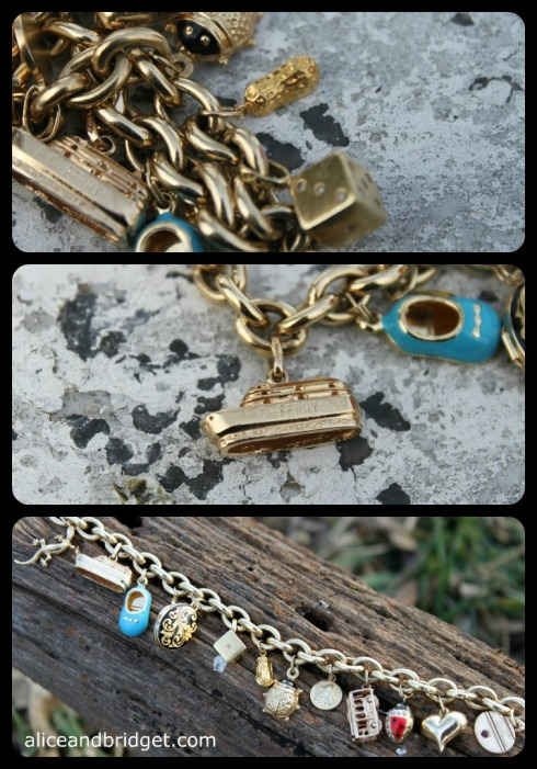 Gold Charm Bracelet Collage b1