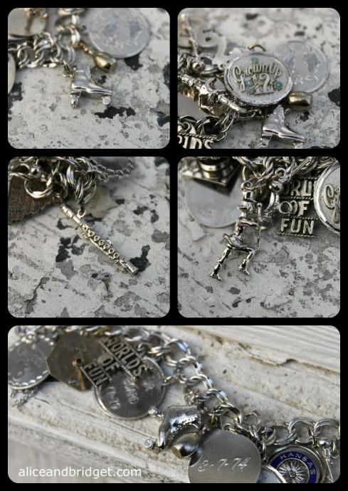 Vintage Silver Charm Bracelet Collage 2 a