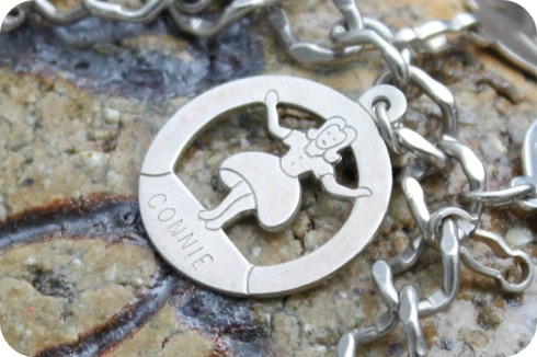Vintage Silver Connie Girl Charm